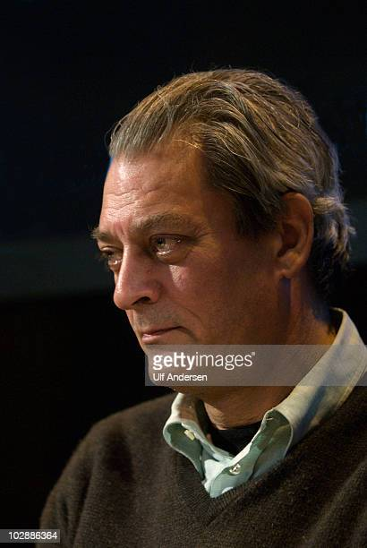 PARIS FRANCE MARCH 30 American writer Paul Auster attends a conference held on March 30 2010 in Paris France