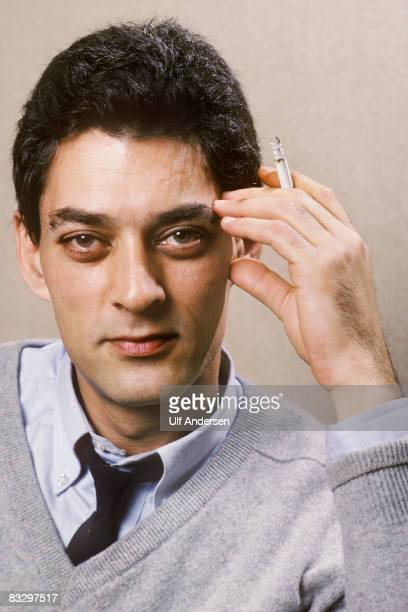 American writer Paul Auster poses while in ParisFrance to promote his book on the 27th of November 1987