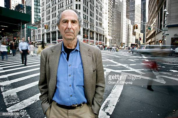 American writer Philip Milton Roth in New York City