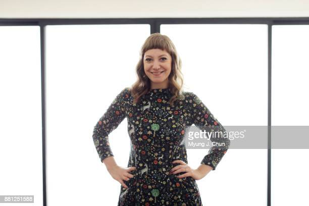 American writer producer and podcast host Emily V Gordon is photographed for Los Angeles Times on November 1 2017 in Los Angeles California PUBLISHED...