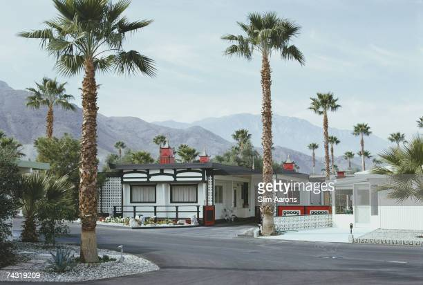 American writer Truman Capote's house in Palm Springs California January 1970