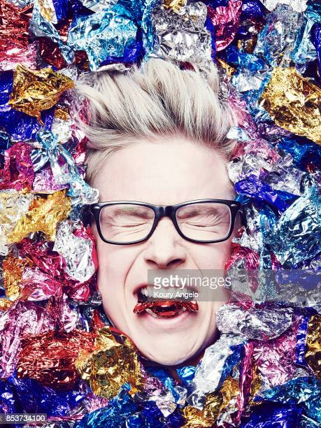 American YouTube and podcast personality author and activist Tyler Oakley is photographed for Simon Schuster on April 3 2015 in Los Angeles California