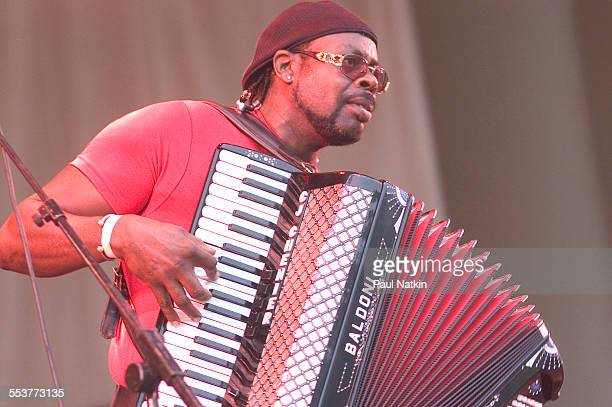 American Zydeco musician CJ Chenier performs onstage during the Chicago Blues Festival, Chicago, Illinois, June 11, 2004.