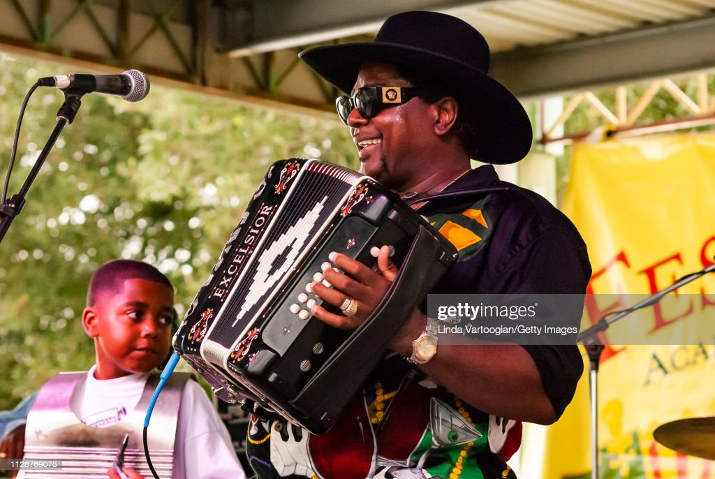Nathan & The Zydeco Cha-Chas At 'Festivals Acadiens Et Creoles' : News Photo
