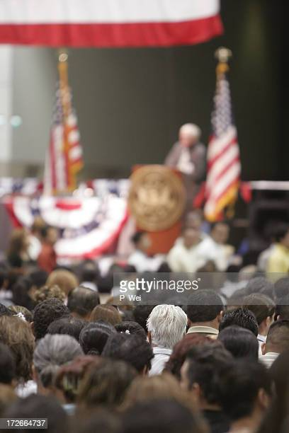 americana: classic town hall meeting - democratic party usa stock pictures, royalty-free photos & images