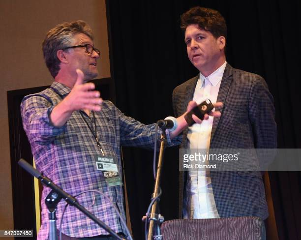 Americana Executive Director Jed Hilly chats with Singer/Songwriter Joe Henry during 18th Annual Americana Music Festival Conference Songwriter...