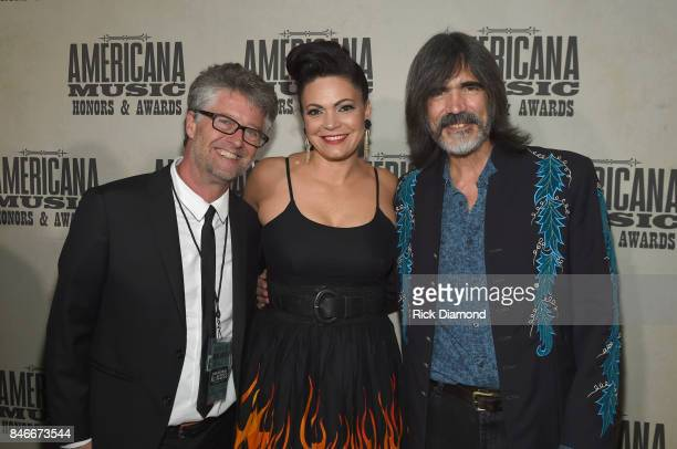 Americana Music Association Executive Director Jed Hilly Angaleena Presley and Larry Campbell attend the 2017 Americana Music Association Honors...