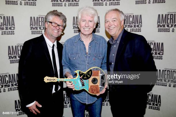 Americana Music Association Executive Director Jed Hilly Graham Nash and Ken Paulson attend the 2017 Americana Music Association Honors Awards on...