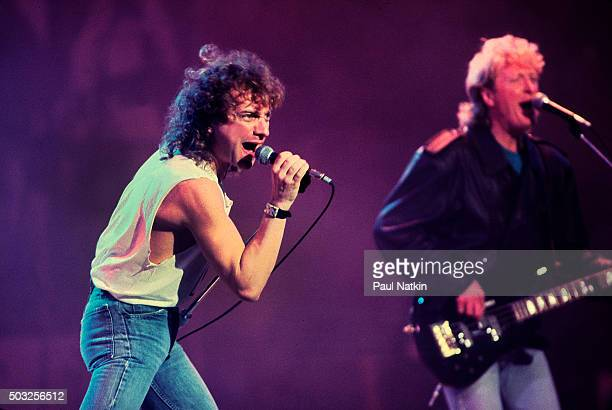 Americanbased rock band Foreigner performs onstage during the Atlantic Records 40th Anniversary Concert at Madison Square Garden New York New York...