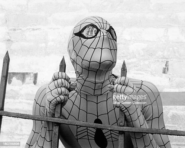Americanborn Australian actor Nicholas Hammond as SpiderMan in the US TV series 'The Amazing SpiderMan' circa 1978