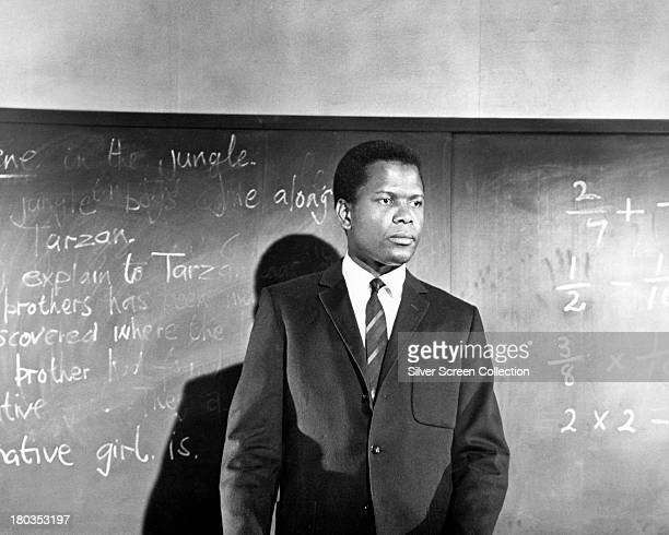 Americanborn Bahamian actor Sidney Poitier as teacher Mark Thackeray in 'To Sir With Love' directed by James Clavell 1967