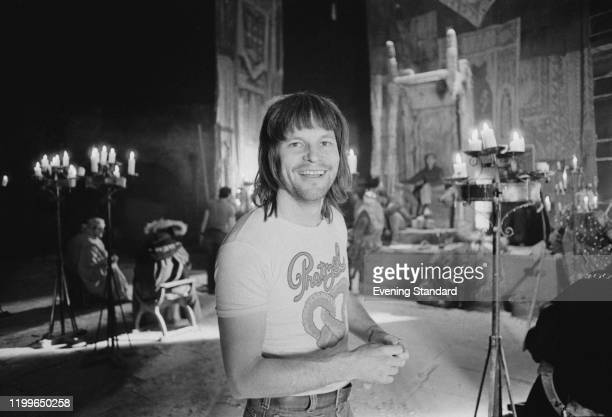 American-born British film director and animator Terry Gilliam on the set of 'Jabberwocky', August 1976.