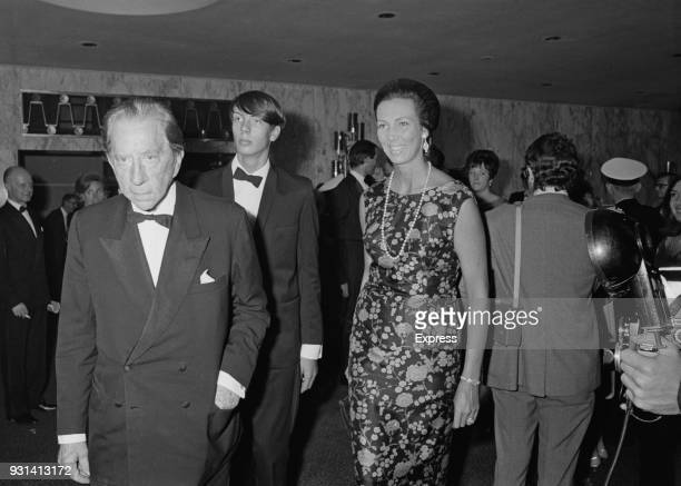 Americanborn British industrialist J Paul Getty attends the 70mm film presentation of American epic historical romance film 'Gone With The Wind' at...