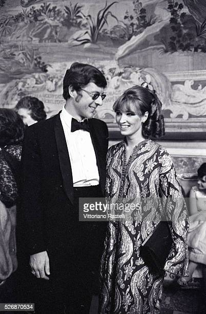 Americanborn British philanthropist and book collector John Paul Getty Jr with his second wife actress of Dutch origin Talitha Pol attend the...