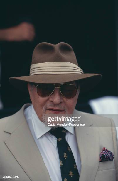 Americanborn British philanthropist Sir Paul Getty at the first match to be played at the new cricket ground on his Wormsley Park estate in...