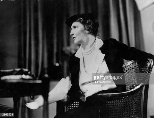 American-born British politician Nancy Astor , wife of the 2nd Viscount Waldorf Astor. Original Publication: Lilliput Magazine - pub. C.1930 Original...