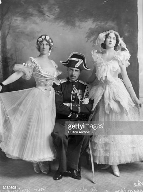 Americanborn British politician Nancy Witcher Langhorne Viscountess Astor at Lord Wintertons and Mrs H E Smith's fancy dress ball at Claridges Hotel...
