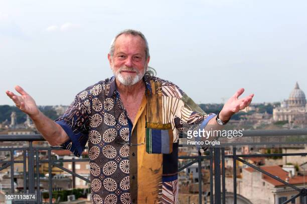 Americanborn British screenwriter film director and actor Terry Gilliam attends 'The Man Who Killed Don Quixote ' photocall at the terrace of Bernini...