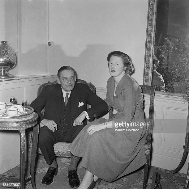 Americanborn British writer T S Eliot with his second wife Valerie Eliot on their honeymoon 4th February 1957