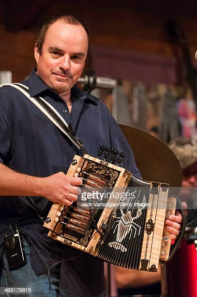 American-born Cajun accordionist Jimmy Breaux performs with the band Bonsoir, Catin at the 'Gateway to the Grammys' fundraiser, a concert in the...