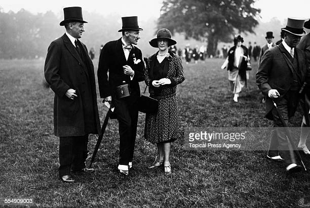 Americanborn English socialite and politician Nancy Astor Viscountess Astor with friends at the Derby Epsom 1st June 1927