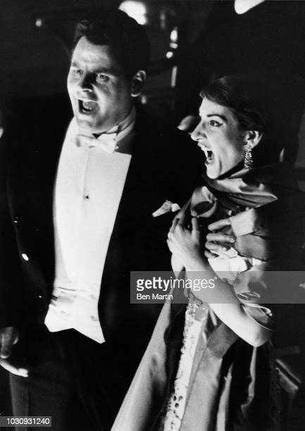 American-born Greek soprano Maria Callas and Franco Corelli , 'Il Pirata', American Opera Society December 27, 1959.
