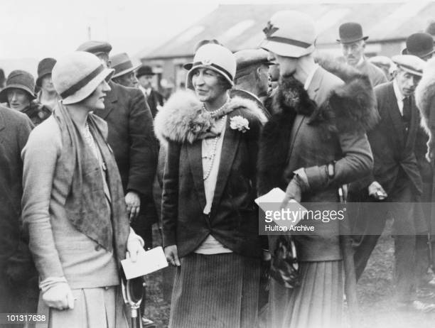 Americanborn heiress Mary Goelet Duchess of Roxburghe at Kelso races Scotland circa 1925