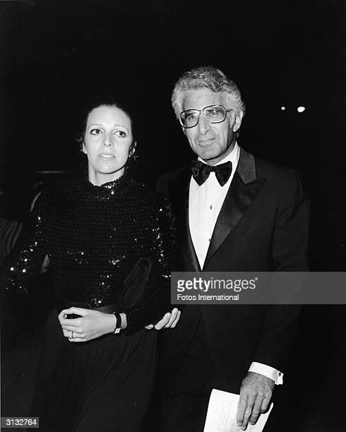 American-born shipping heiress Christina Onassis and her husband American real estate broker Joesph Bolker attend a charity auction, October 1971.