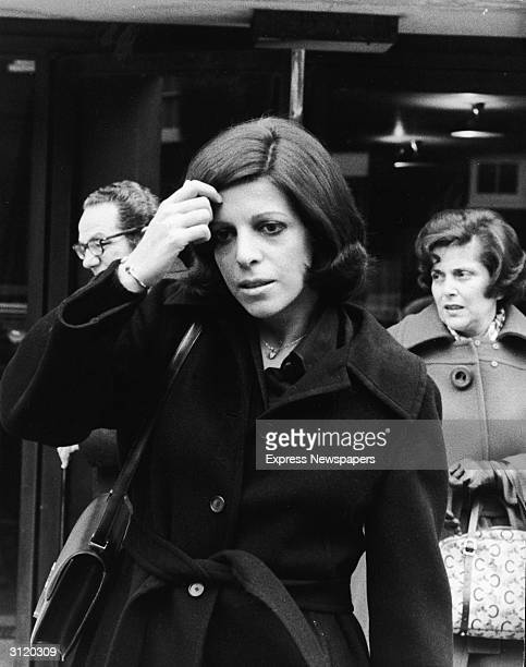 Americanborn shipping heiress Christina Onassis leaves her flat in London's Mayfair to discuss her late father Aristotle Onassis's company with...