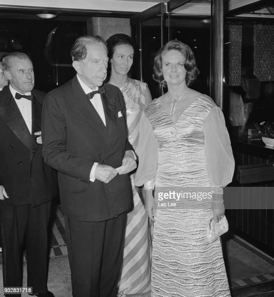 AmericanBritish industrialist Jean Paul Getty attends the premiere of 'Decline and Fall' at Carlton Cinema London UK 27th September 1968