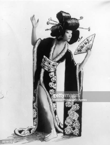 AmericanChinese film actress Anna May Wong wearing Oriental garb and hairstyle