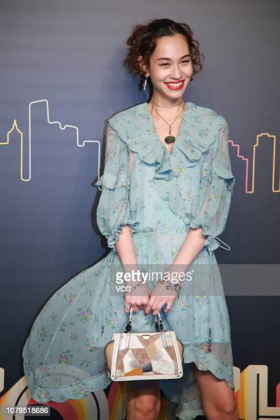 AmericanJapanese model Kiko Mizuhara poses backstage during the Coach 2019 early autumn collection fashion show 'Coach Lights Up Shanghai' on...