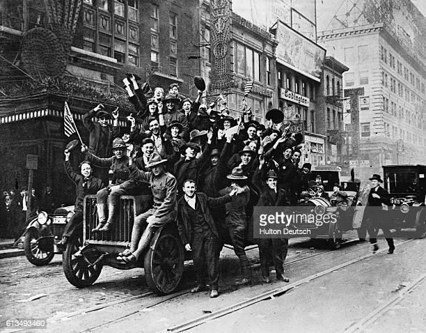Americans Celebrating End of World War I