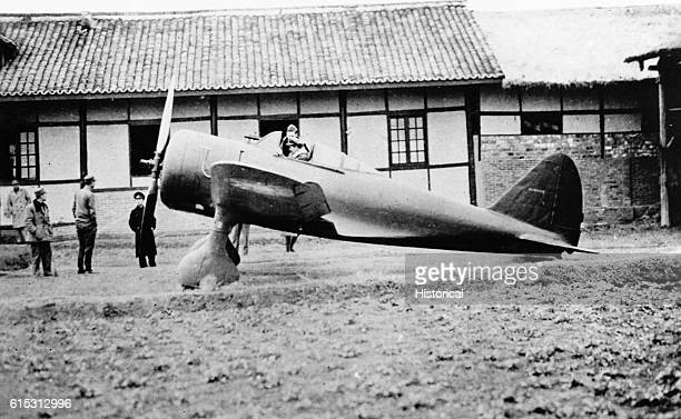 Americans in China with a captured Japanese Zero fighter plane ca 1940s