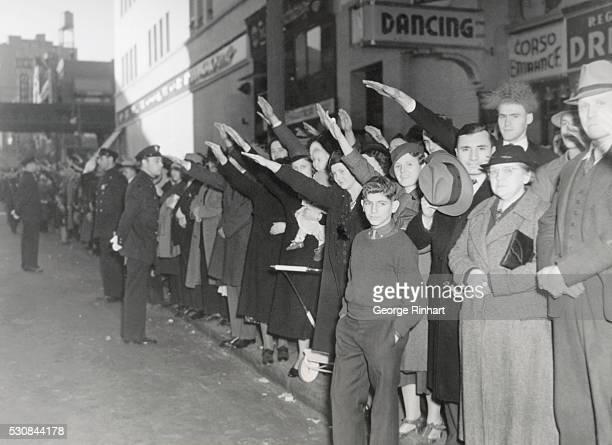 Americans Salute Nazi Parade