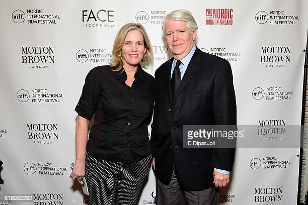 AmericanScandinavian Foundation director of programs Mary Kerr and AmericanScandinavian Foundation president/CEO Edward P Gallagher attend the 2016...
