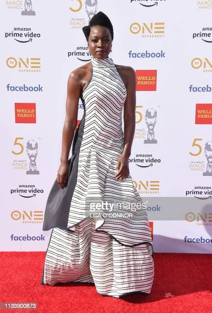 AmericanZimbabwean actress Danai Gurira arrives for the 50th NAACP Image awards at the Dolby theatre on March 30 2019 in Los Angeles