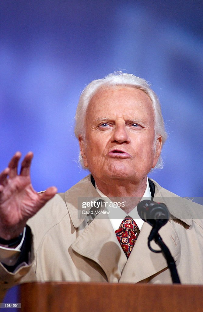 America's best known evangelist, 84-year-old Billy Graham, makes his last mission to California on May 8, 2003 to San Diego, California. Some 54,000 people attended tonight's service which is expected to total 200,000 over the four-night event as thousands convert to Christianity.