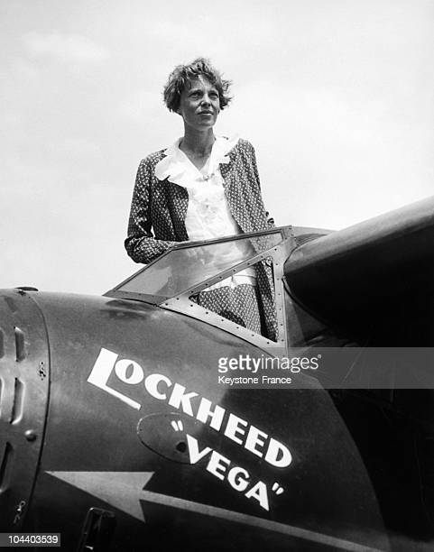 America's birdwomen gather at Los Angeles for start of first national Women's Air Derby Miss Amelia EARHART famous transatlantic flier who will pilot...