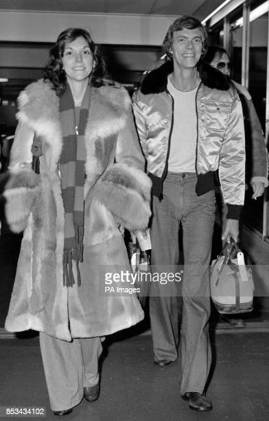 America's brother and sister singing duo Karen and Richard Carpenter at Heathrow Airport after their arrival from Los Angeles at the start of a...