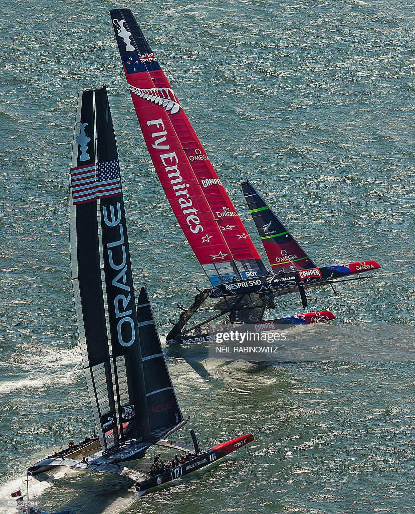 Sailing - America's Cup : News Photo
