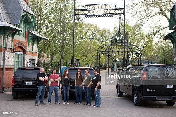 HUNTERS 'America's First Zoo' Episode 12 Pictured Jason Hawes Grant Wilson Amy Bruni Kris Williams KJ McCormick Britt Griffith