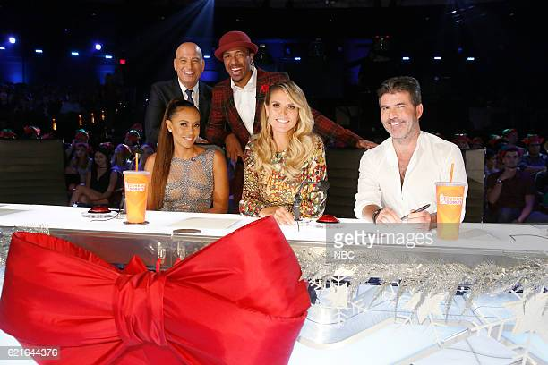 S GOT TALENT 'America's Got Talent Christmas Special' Pictured Howie Mandel Mel B Nick Cannon Heidi Klum Simon Cowell