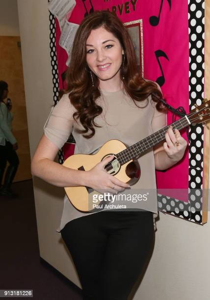 'America's Got Talent' finalist Mandy Harvey visits The HEAR Center In Pasadena at HEAR Center on February 1 2018 in Pasadena California