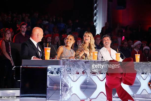 S GOT TALENT 'America's Got Talent Holiday Spectacular' Pictured Howie Mandel Mel B Heidi Klum Simon Cowell