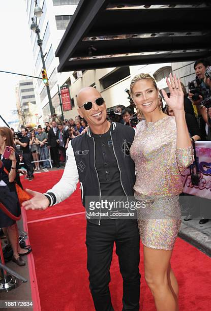 America's Got Talent judges Howie Mandel and Heidi Klum attend the America's Got Talent Season 8 Meet The Judges Red Carpet Event at Hammerstein...