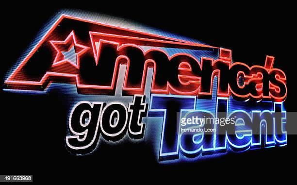America's Got Talent Live The All Stars Tour logo captured on the big screen onstage during opening night on October 6 2015 in Salina Kansas