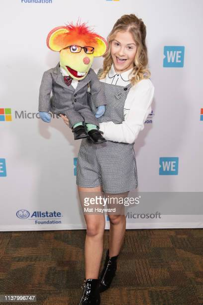 America's Got Talent season 12 champion singer and ventriloquist Darci Lynne poses for a photo with her puppet Oscar The Mouse at Tacoma Dome on...