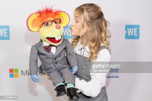 'America's Got Talent' season 12 champion singer and ventriloquist Darci Lynne poses for a photo with her puppet Oscar The Mouse at Tacoma Dome on...
