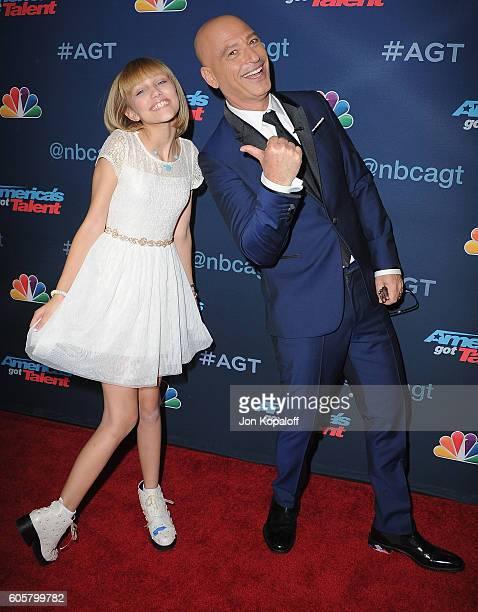 America's Got Talent winner Grace VanderWaal and Howie Mandel arrive at America's Got Talent Season 11 Finale Live Show at Dolby Theatre on September...